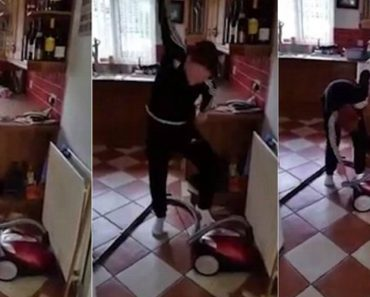 Irish Dad Watches On With Glee As Son Struggles To Turn On The Hoover 9
