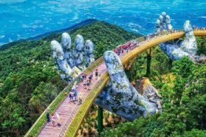 Giant Hands Cradle Vietnam's New Golden Bridge Near Da Nang 11