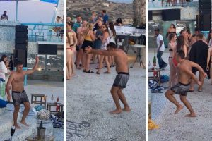 Carefree Reveller Shows Off Crazy Dance Moves 11