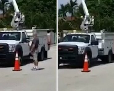 Florida Man Calmly Shoots Out All The Tires Of AT&T Work Truck Parked In Front Of His House 1