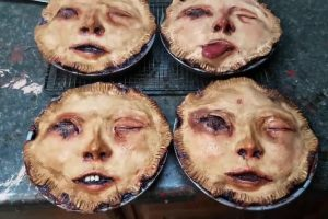 Artist Sculpts Creepy Looking Pies With Human Faces 10