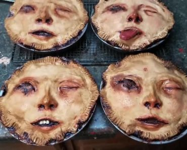 Artist Sculpts Creepy Looking Pies With Human Faces 6