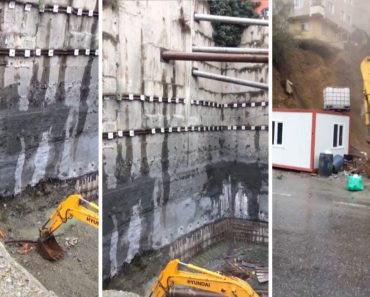 Building Collapses On Bulldozer In Istanbul 4