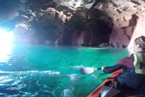 Kayakers Discover a Secret Blue Lagoon 10