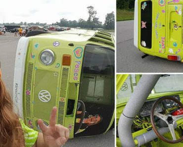 Take a Look At The Trippy Tippy Hippy Van That Drives On Its Side 4