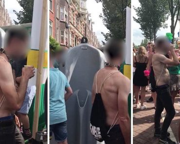 Disgusting Reveller Drinks From Outdoor Urinal 3