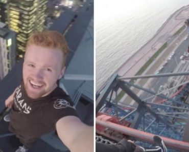 Shocking Footage Shows Reckless Man Climbing The Tallest Rollercoaster In England 5